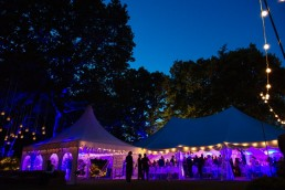 Night time wedding party