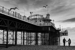 Brighton Palace Pier engagement shoot