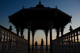 Brighton Bandstand engagement shoot sunset