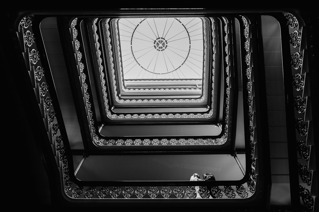 Wedding portrait Staircase The Grand Brighton