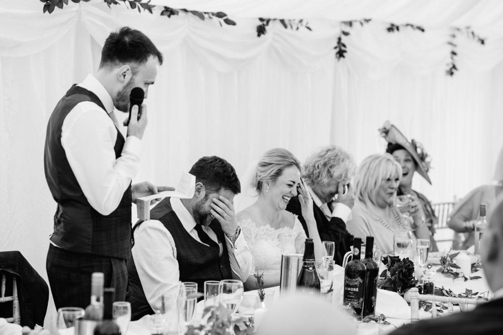Four Oaks Farm wedding speeches