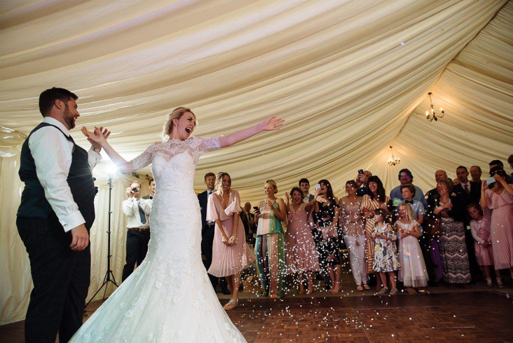 Four Oaks Farm wedding first dance