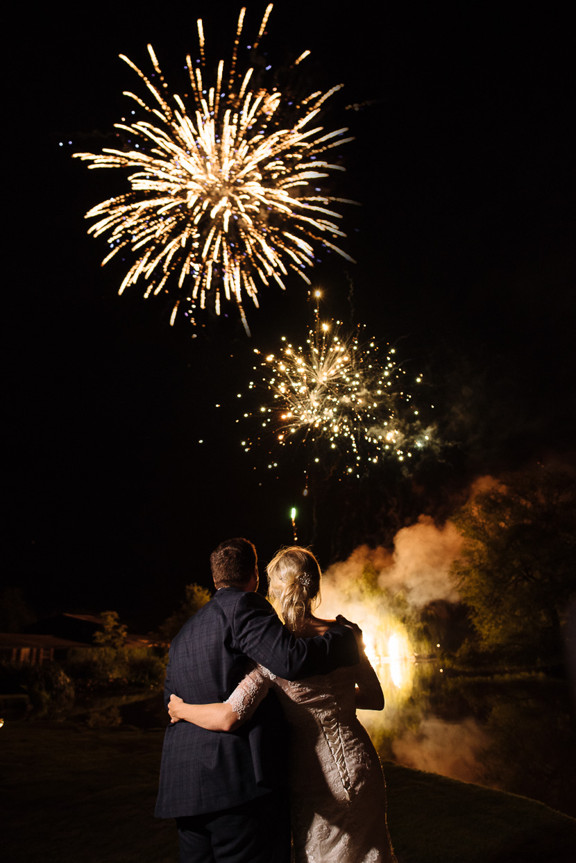Four Oaks Farm wedding fireworks