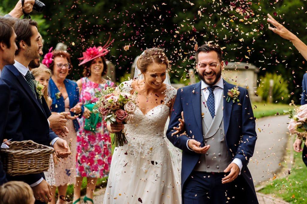 Henhaw Farm wedding confetti