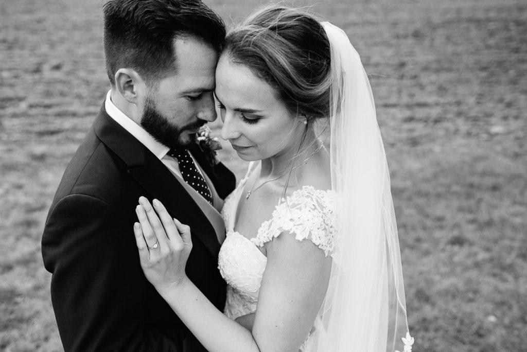 Henhaw Farm wedding portrait
