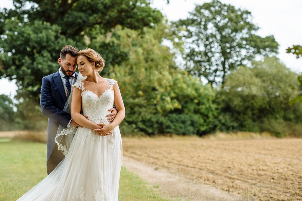 Henhaw Farm wedding couple portrait