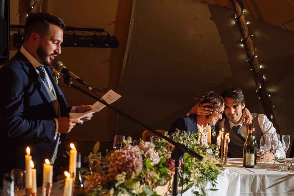 Henhaw Farm wedding groom speech
