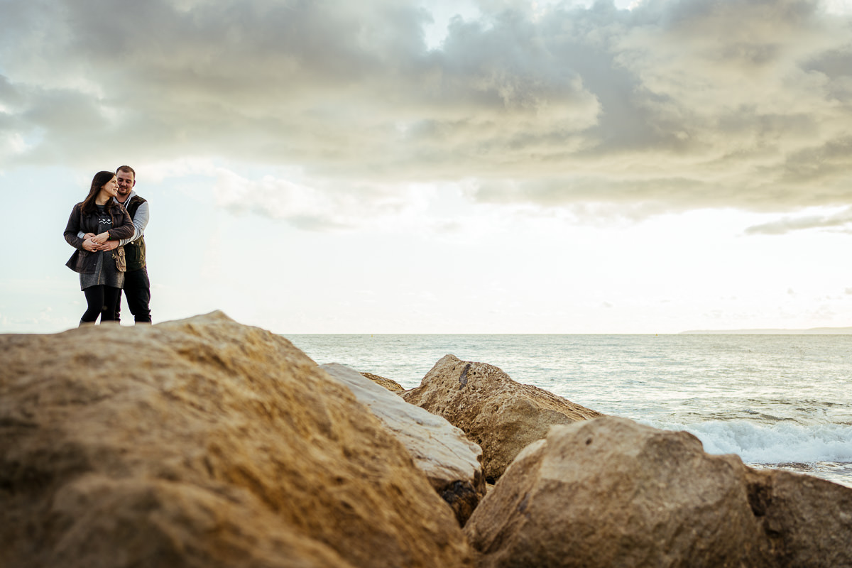 Bournemouth engagement shoot on the beach