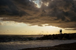 Bournemouth engagement shoot sunset