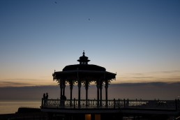 Brighton bandstand pre wedding shoot