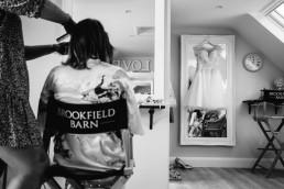 Brookfield Barn wedding bride getting ready