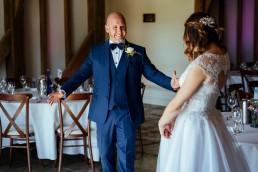Brookfield Barn wedding first look