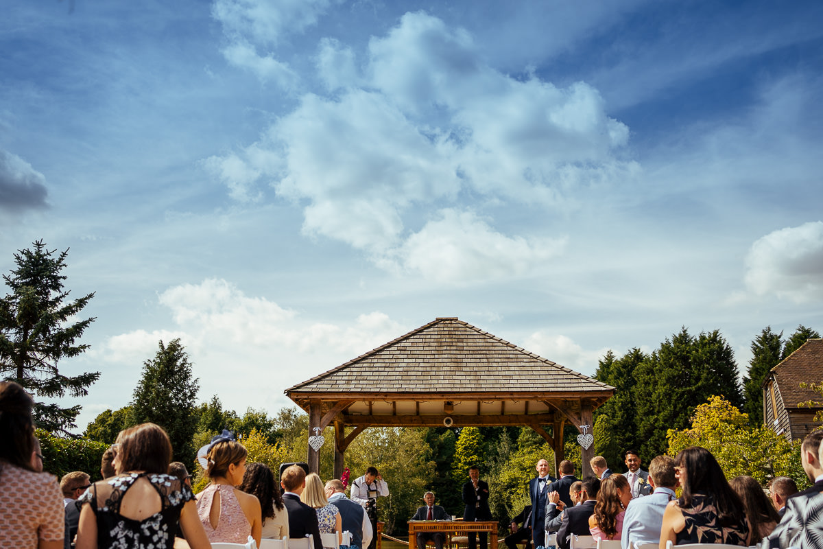 Brookfield Barn wedding ceremony
