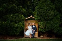 Brookfield Barn wedding couple portrait