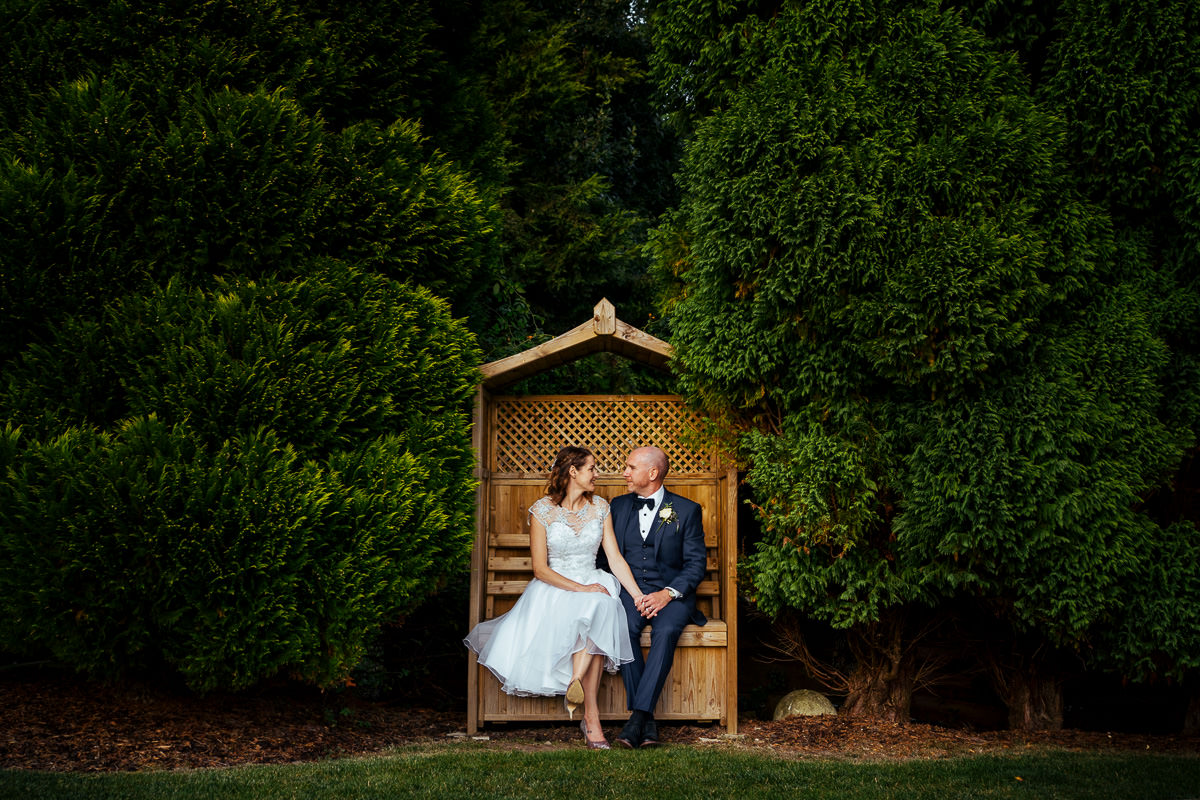 Brookfield Barn wedding couple portrait