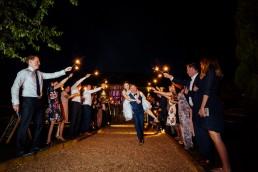 Brookfield Barn wedding sparkler exit