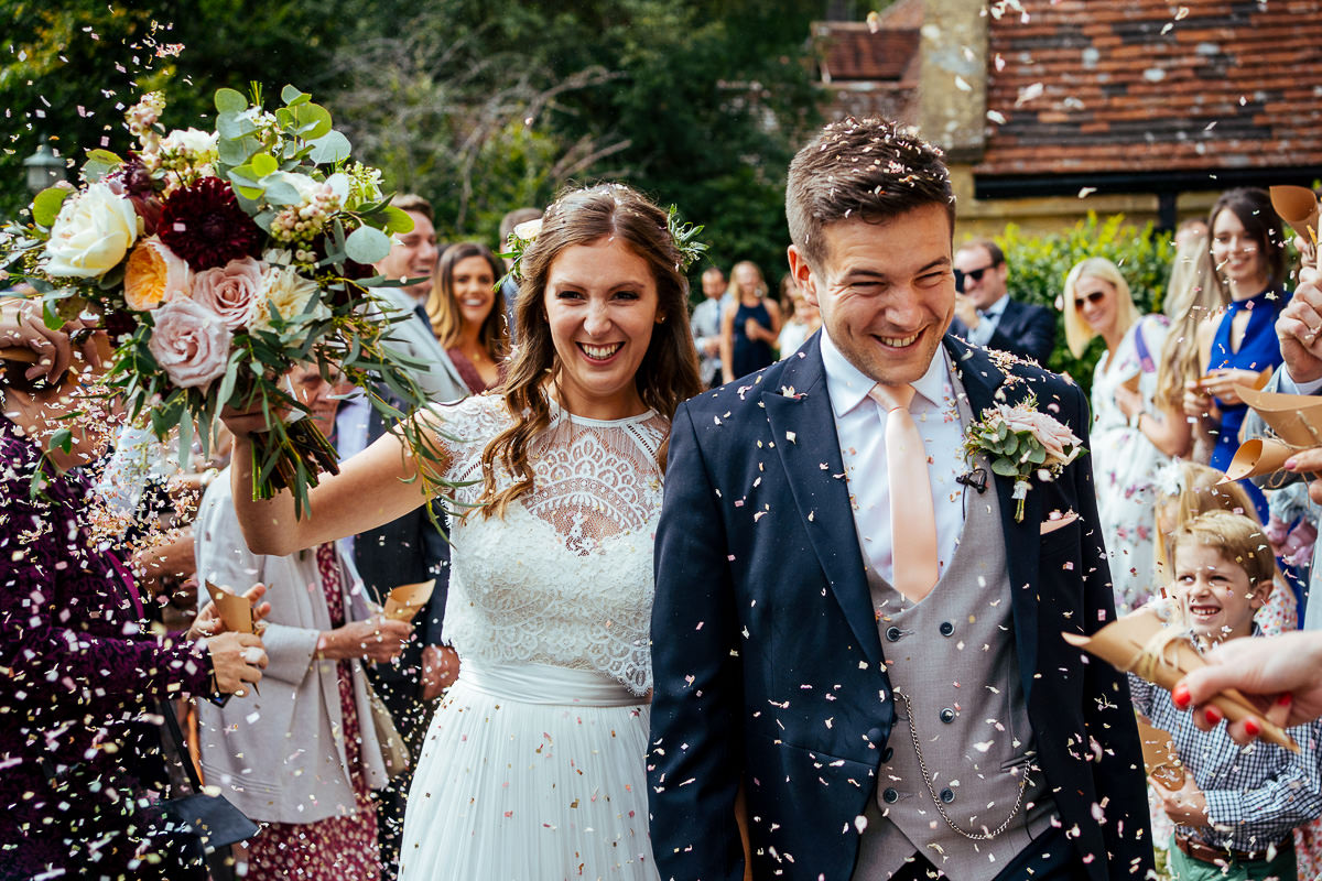 The Beacon, Tunbridge Wells wedding confetti