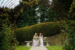 The Beacon, Tunbridge Wells wedding bride with bridesmaid
