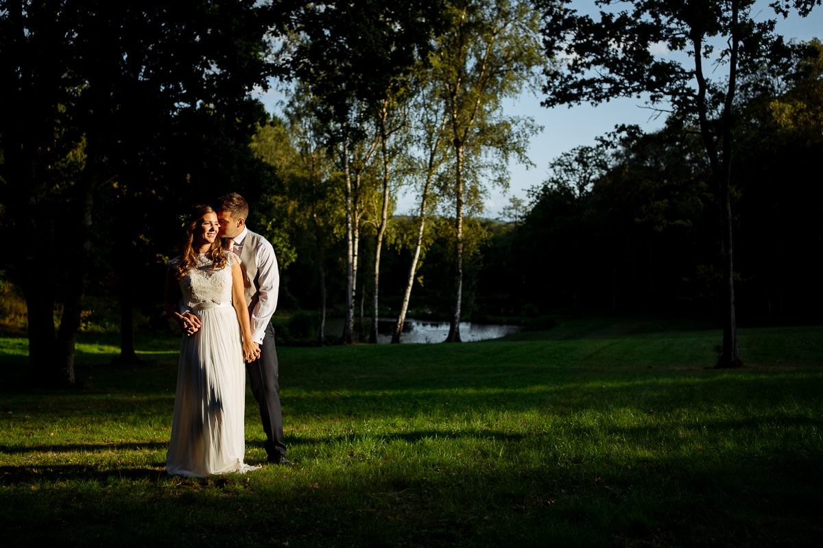 The Beacon, Tunbridge Wells wedding couple portrait