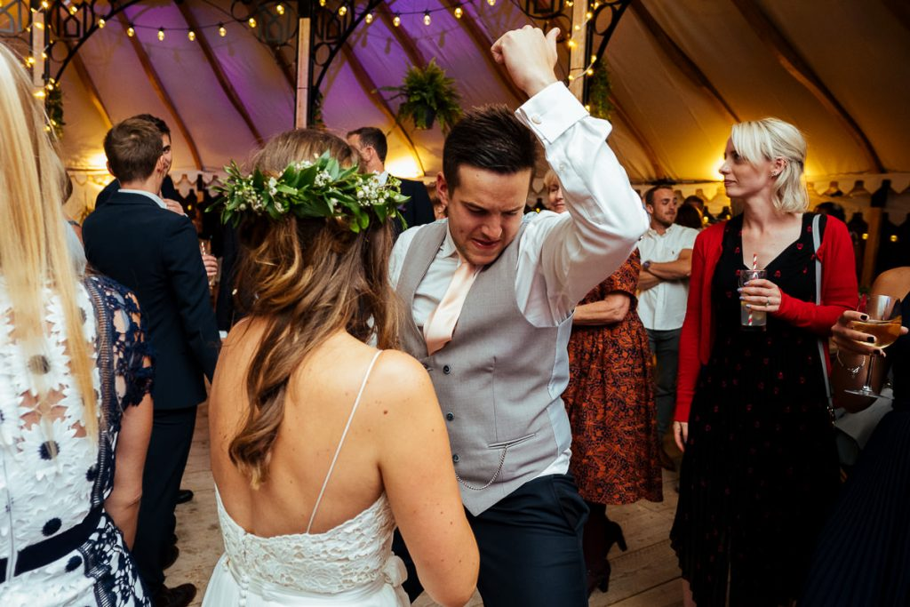 The Beacon, Tunbridge Wells wedding bride & groom dancing