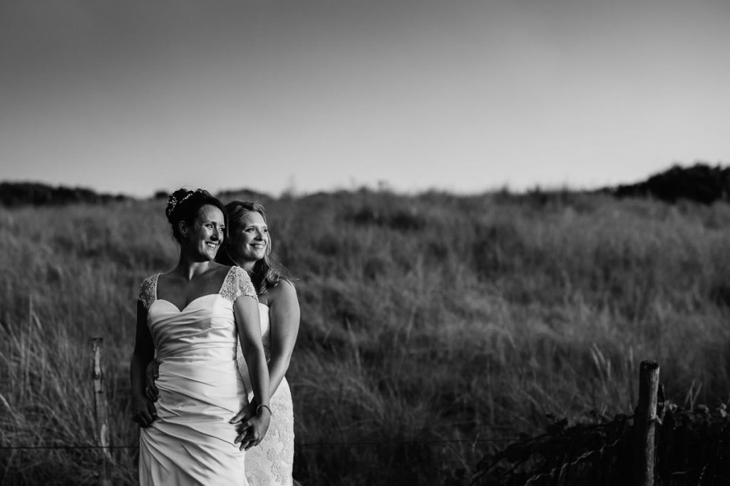 Camber Sands wedding couple portrait