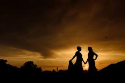 Camber Sands wedding sunset photos