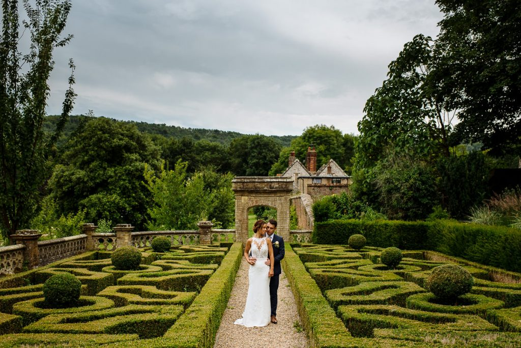 Wiston House garden wedding photography portrait