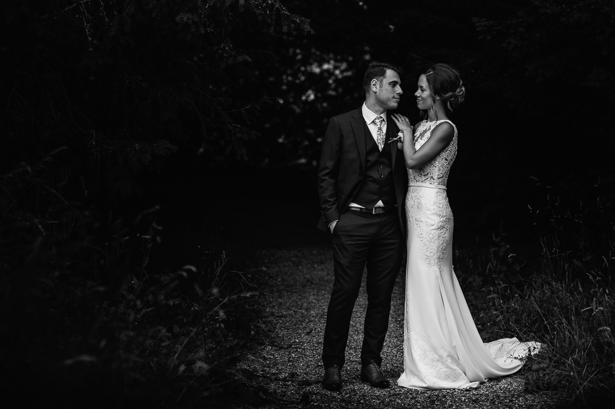 Wiston House wedding couple portrait