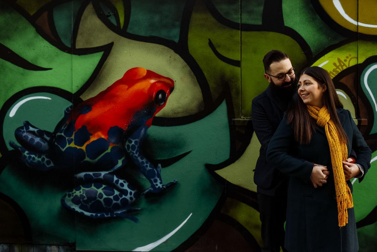 Brighton engagement shoot with Graffiti
