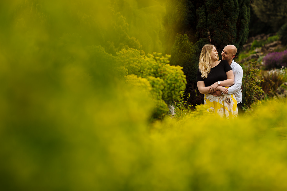 Brighton engagement shoot couple at the Rockery Preston Park