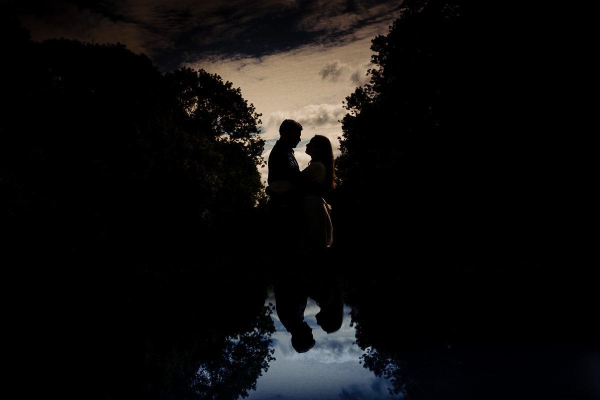 Hatfield Forrest engagement shoot silhouette